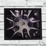 Quadro roda Porsche (c/ moldura)