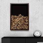 Quadro para Rolhas Fundo Preto Grande em Madeira - 63x43 cm