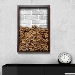 Quadro para Rolhas Tijolo Cinza Grande em Madeira - 63x43 cm