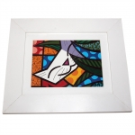 Quadro Romero Britto Behind the Bushes - Madeira - 24cm x 29cm x 2cm