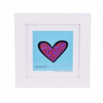 Quadro Romero Britto Blue About You - Madeira - 28cm x 28cm x 2cm