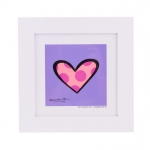 Quadro Romero Britto Dotty About You - Madeira - 28cm x 28cm x 2cm
