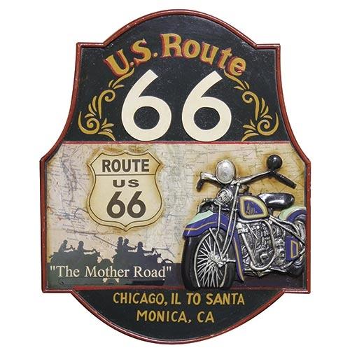 Quadro Route 66 Chicago Oldway - 60x48 cm