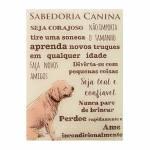 Quadro Sabedoria Canina Bege em Vidro - 40x30 cm
