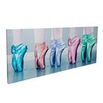 Quadro Sapatilhas Coloridas em Madeira - 70x40 cm
