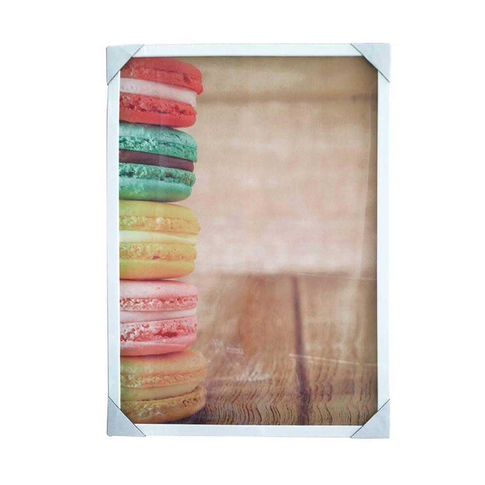 Quadro Side Macarons com Moldura - Urban - 70x50 cm