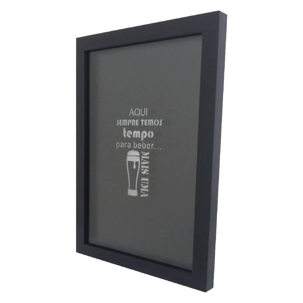 Quadro para Tampinhas Beber Mais Uma c/ Impressão Digital em Vidro e MDF - 44x33 cm