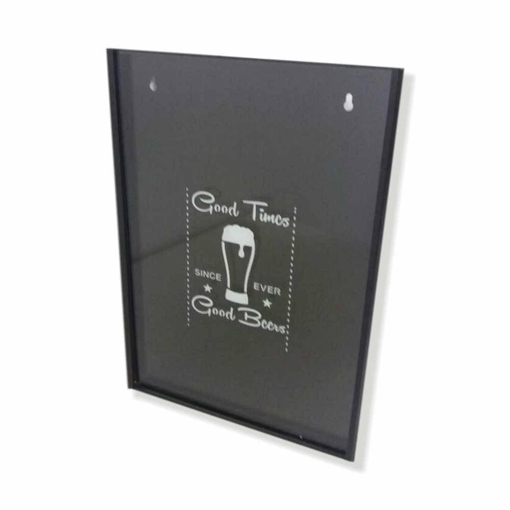 Quadro para Tampinhas Good Beers c/ Impressão Digital em Vidro e Metal - 44x33 cm