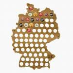 Quadro de Tampinhas Mapa da Alemanha em MDF Laminado - 51x38 cm