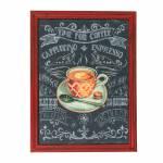 Quadro Time for Coffee em Madeira - 60x52 cm