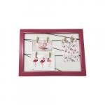 Quadro varal rosa 40x30