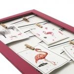 Quadro varal rosa 50x25