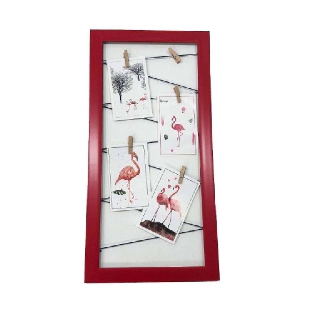 Quadro varal vermelho 50x25