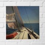 Quadro veleiro ao mar