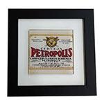 Quadro de Vidro Decorativo Cerveja Petropolis Moldura em Madeira - 20x20cm