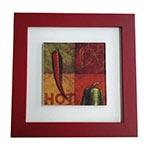 Quadro de Vidro Decorativo Hot Pimenta Moldura em Madeira - 20x20cm
