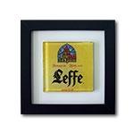 Quadro de Vidro Leffe com Moldura em Madeira - 20x20 cm