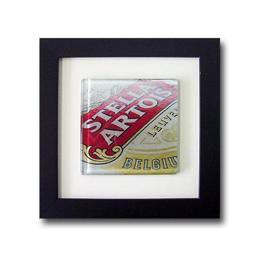 Quadro de Vidro Stella Leuven com Moldura em Madeira - 20x20 cm