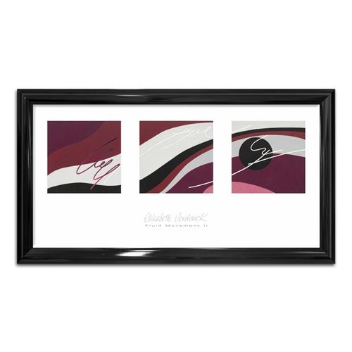 Quadro Vintage Fluid Movement II em Madeira - 88x48 cm