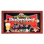 Quadro World Famous Budweiser em Madeira