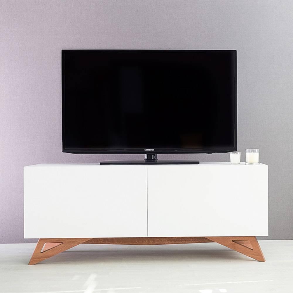 Rack para TV Freddie Compact Branco 2 Portas em MDF - 120x48,5 cm