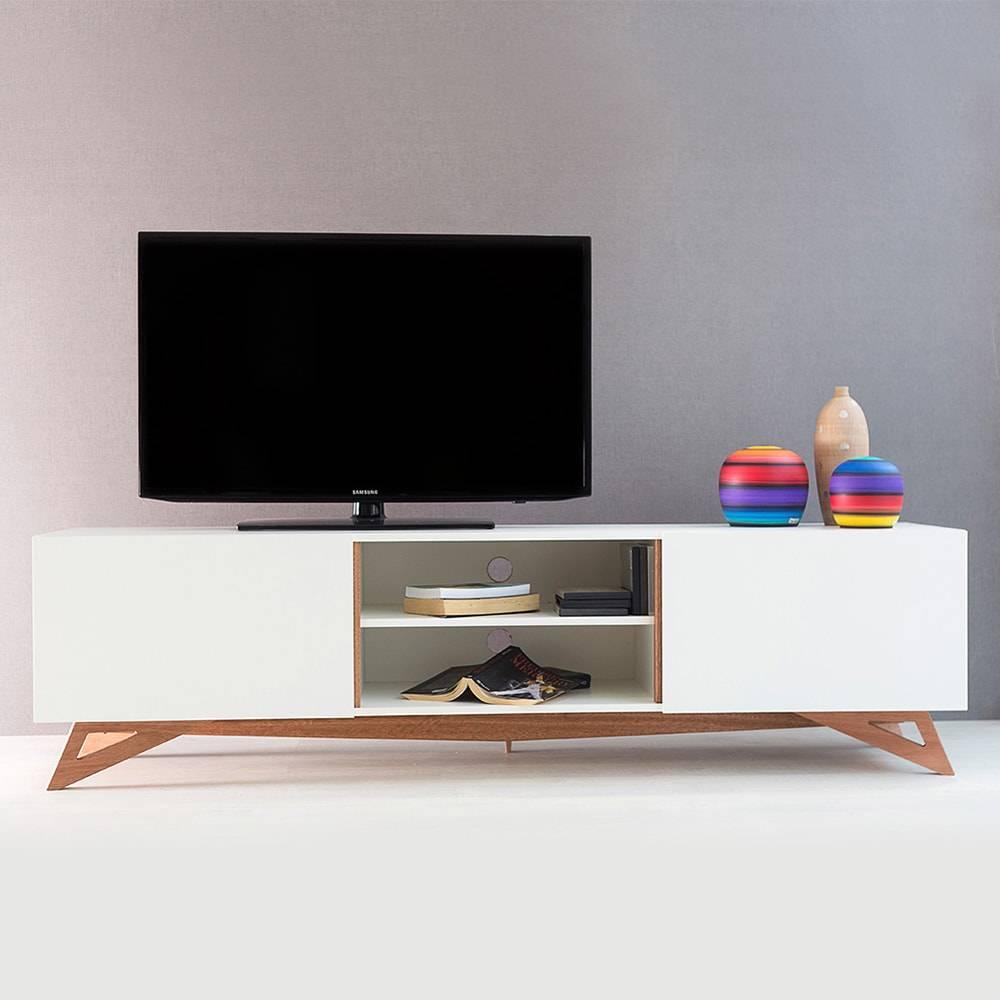 Rack para TV Freddie Extreme Branco com 2 Portas em MDF - 180x48,5 cm