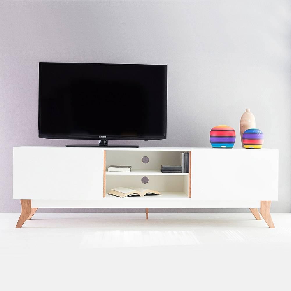 Rack para TV Vintage Extreme Branco com 2 Portas em MDF - 180x48,5 cm