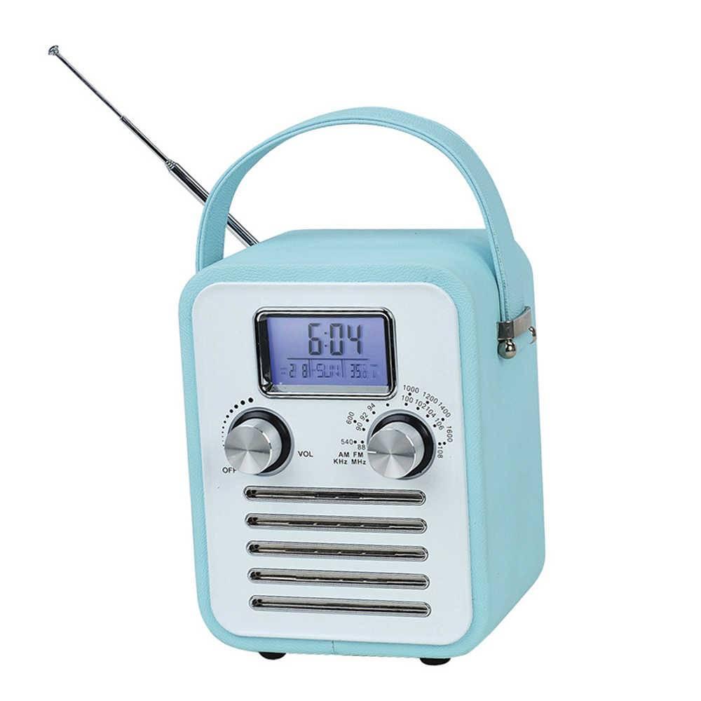Rádio AM/FM Granpa Azul com Relégio Digital e Speacker - Urban - 17x10,5 cm