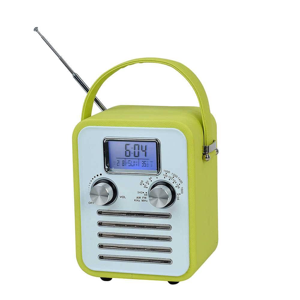 Rádio AM/FM Granpa Verde com Relógio Digital e Speacker - Urban - 16x41 cm