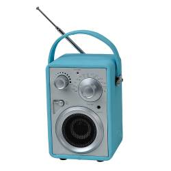 Rádio AM/FM Pilot Azul com Speaker - Urban - 17x10,5 cm