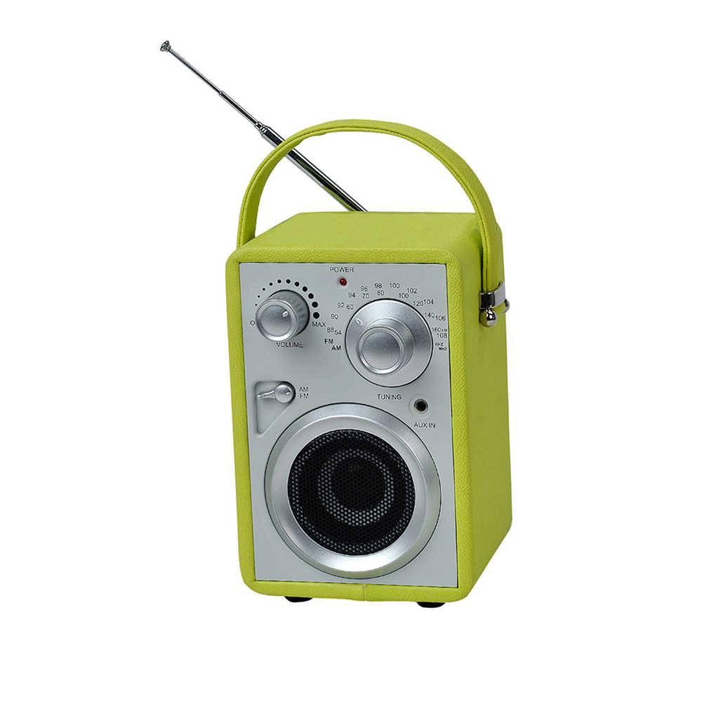 Rádio AM/FM Pilot Verde com Speaker - Urban - 17x10,5 cm
