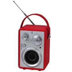 Rádio AM/FM Pilot Vermelho com Speacker - Urban - 17x10,5 cm