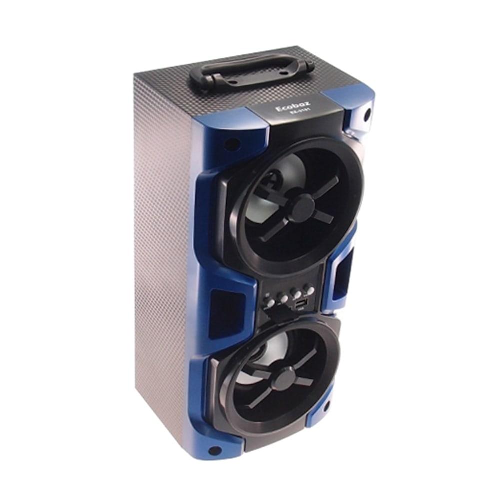 Rádio Amplificador Azul Grande - FM / Cartão SD / MP3 / Adaptador USB - 37x17 cm