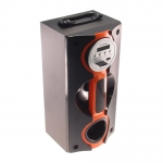 Rádio Amplificador Laranja/Preto - Cartão SD/ USB / FM / MP3
