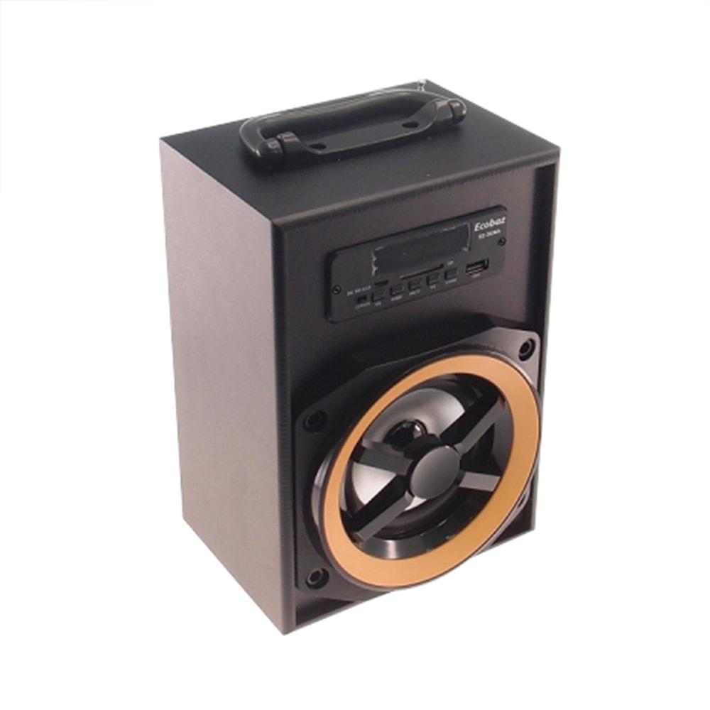 Rádio Amplificador Preto Pequeno - FM/ USB/ Cartão SD/ MP3 - 25x16 cm