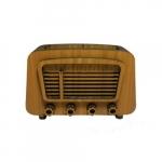 Rádio antigo bege