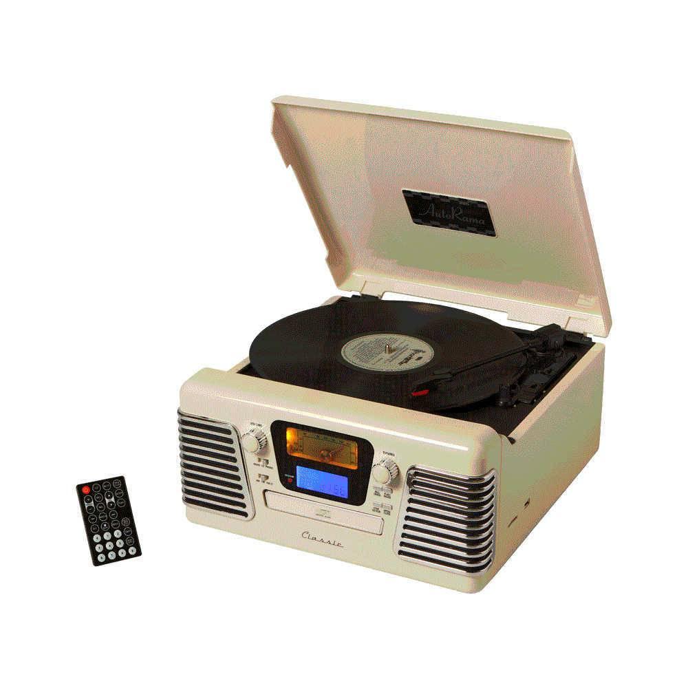 Rádio Autorama Branco AM/FM com Controle Remoto - 36x34 cm