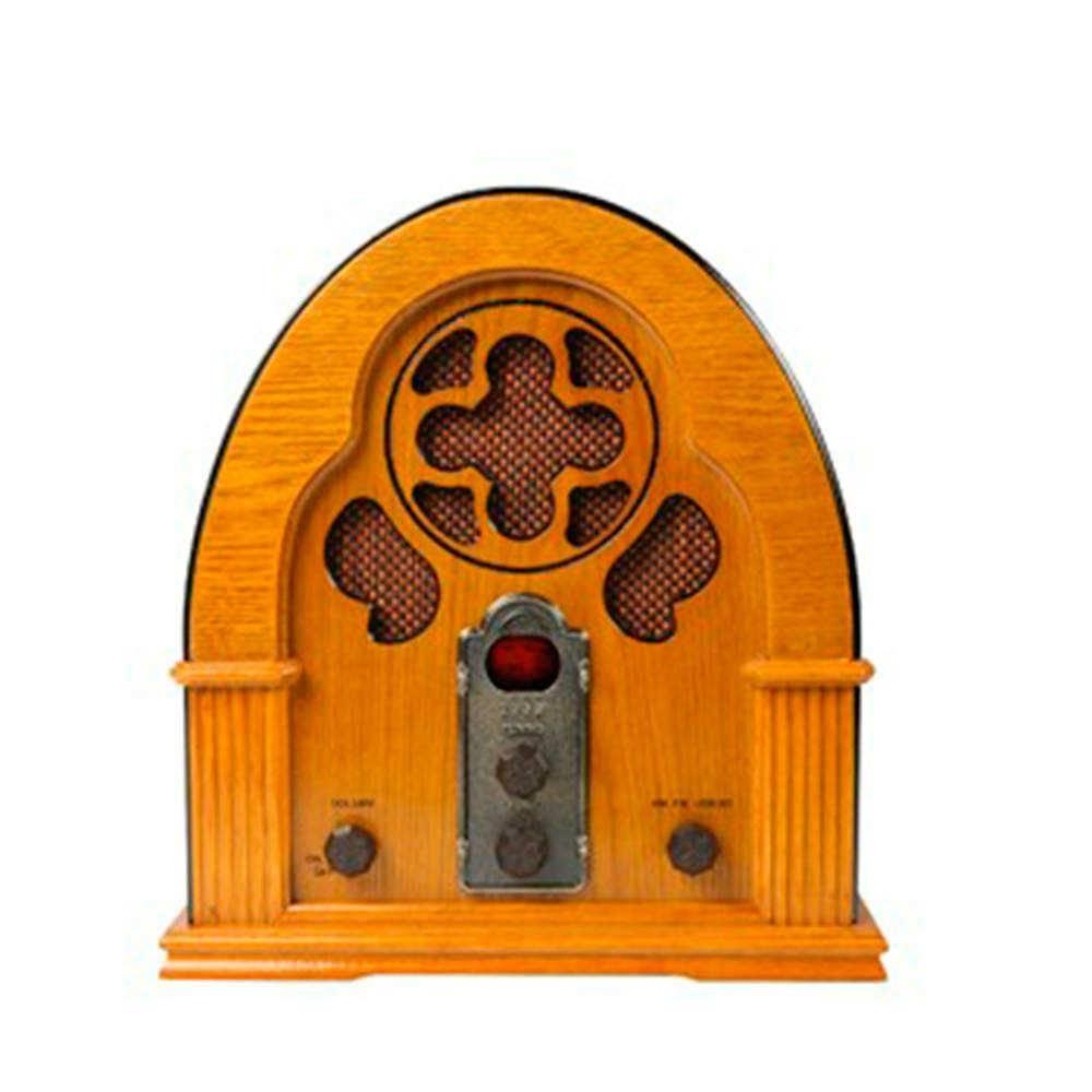 Rádio Capela Marrom em Madeira - Bivolt - 32x30 cm
