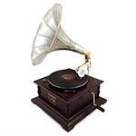 Rádio Gramofone Decorativo Marrom Oldway em Madeira