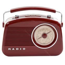 Rádio Retro Marrom AM/FM com Alça - Urban - 32x26 cm
