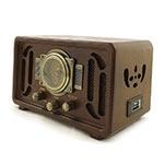 Radio Retrô Marrom Oldway - MP3/ USB/ SDCARD - em Madeira