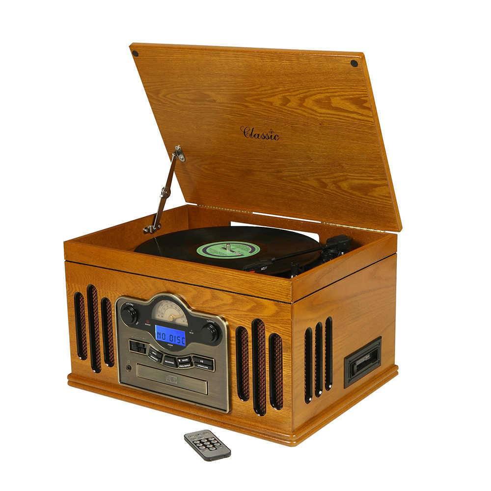 Rádio Toca-Discos Kansas Marrom em Madeira - 43x32 cm