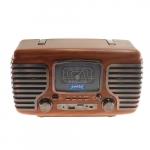 Rádio Vintage AM/FM Marrom em Madeira - 17x29 cm