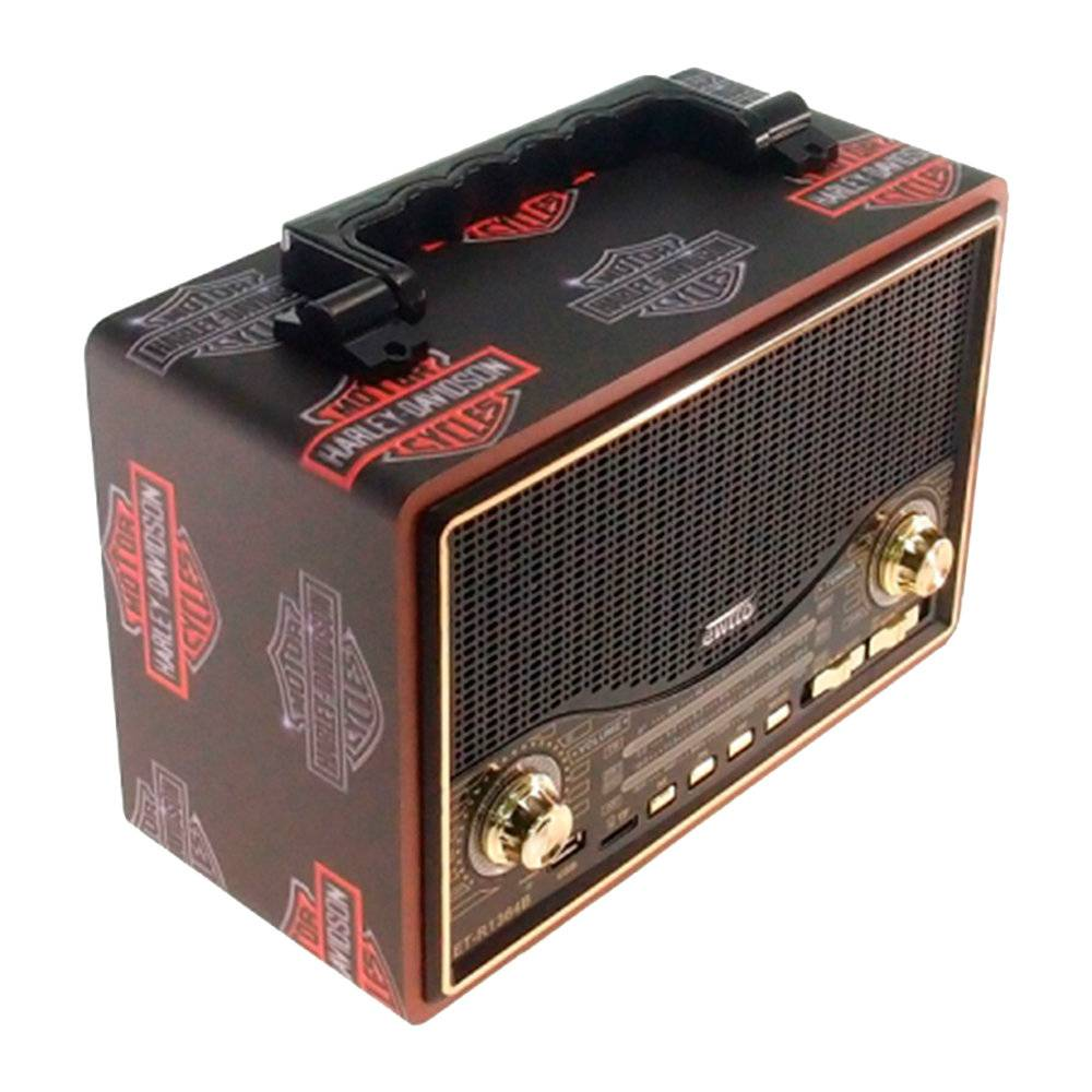 Rádio Vintage Harley-Davidson - MP3 Player / TFCard / SD Card / USB - 28x18 cm