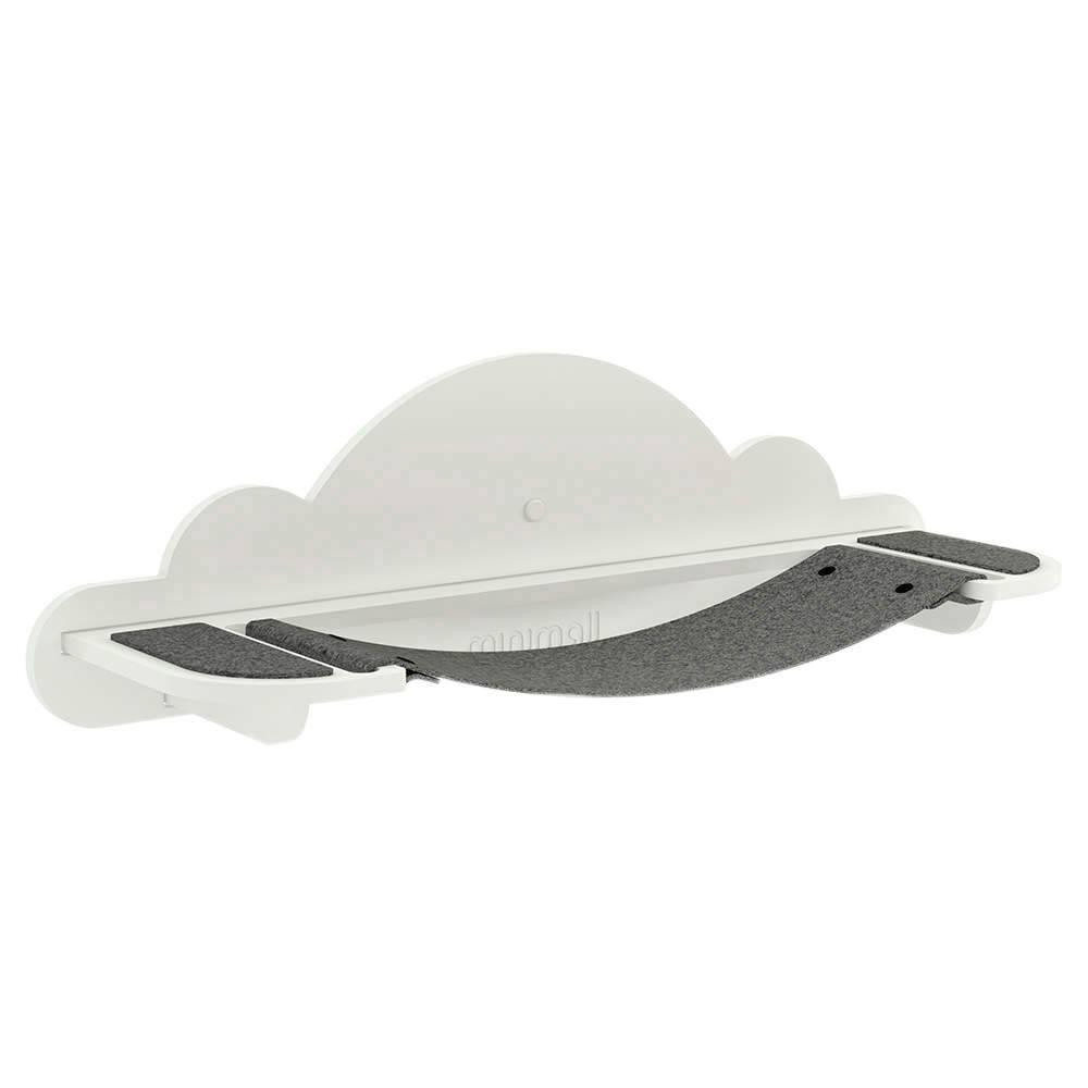 Rede de Descanso para Gatos SkyWall em MDF Branco - 76x22,5 cm