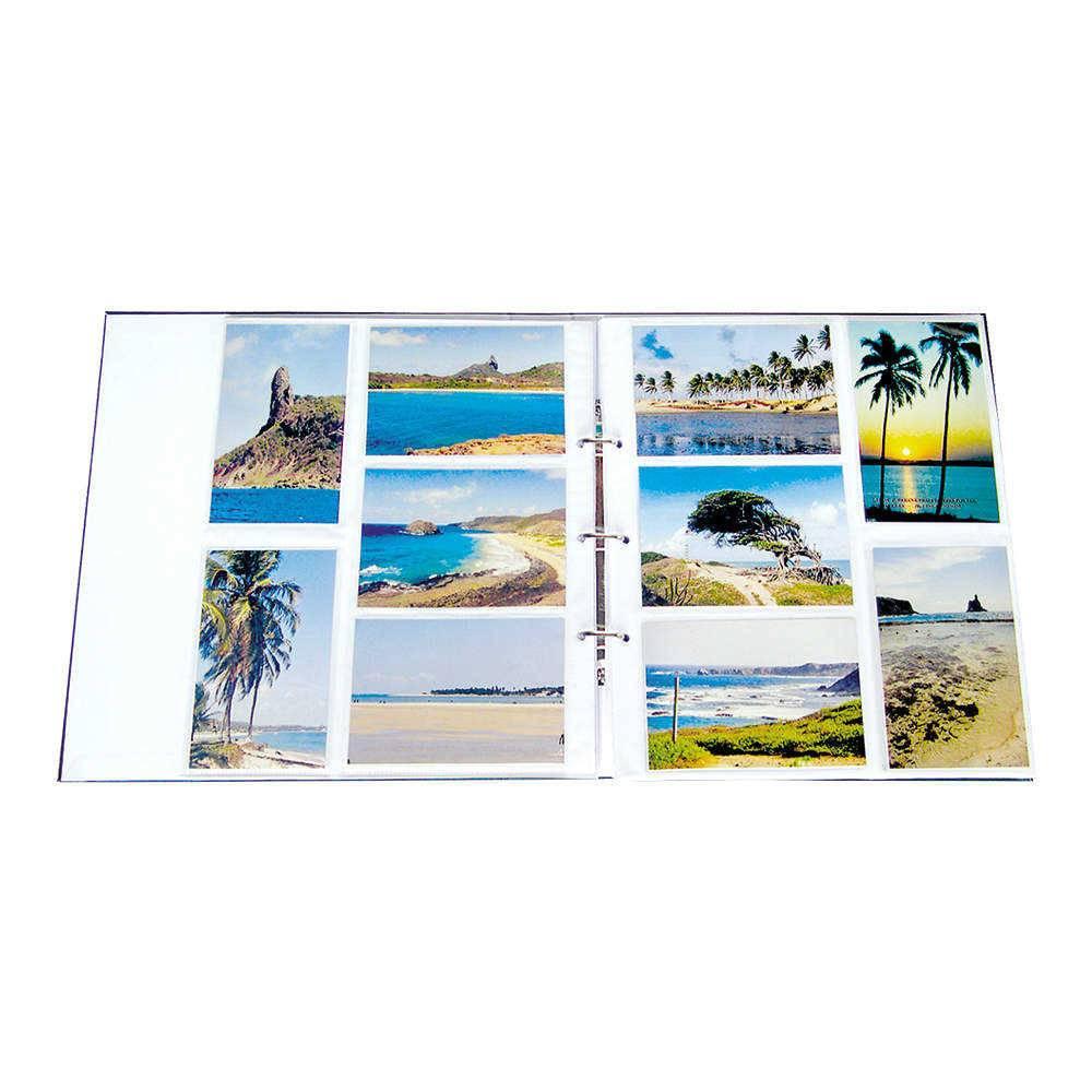 Refil para Álbum de Fotos 10x15 cm - 5 Folhas - Branco - 33,5x29,5 cm