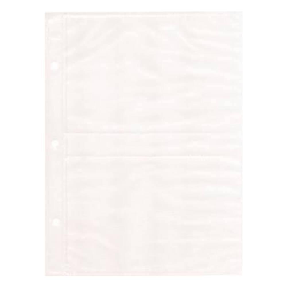 Refil Branco para Álbum de Fotos 10 Folhas 10x15 cm - 23,5x17,6 cm