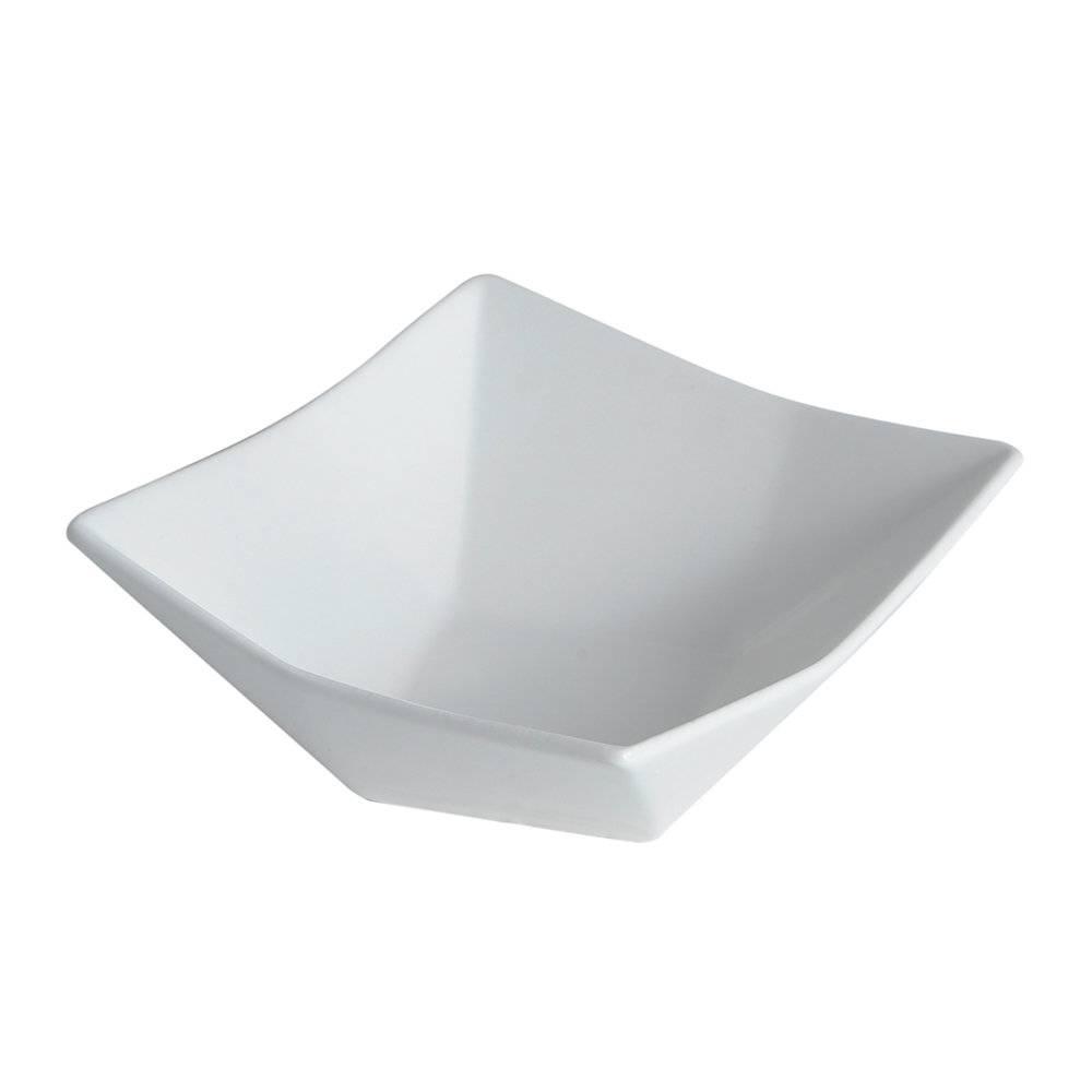 Refratário Geometric Branco Grande em Cerâmica - 21x7,5 cm