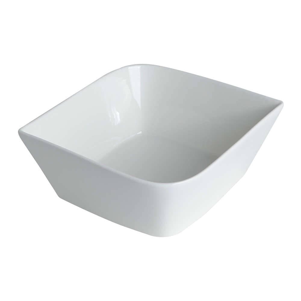 Refratário Quadrado Branco Pequeno em Cerâmica - 16x7 cm