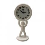 Relógio boneco em pé branco